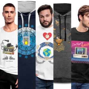 Product examples of men's apparel from my clothing brand!